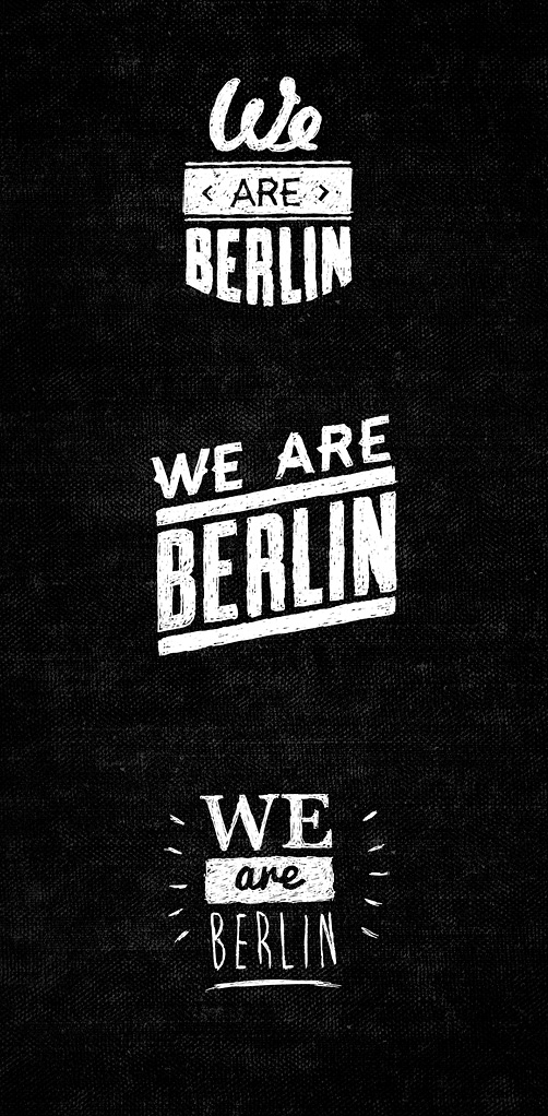 we are berlin logo set